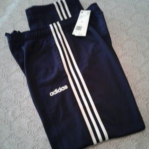 🌺 NWT Men's Adidas Black/White Pants
